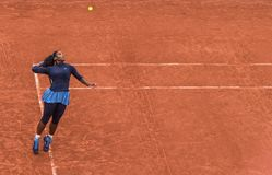 Serena Williams przy Roland Garros Obrazy Royalty Free