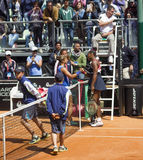 Serena williams sara errani brindisi fed cup Stock Images