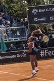 Serena williams serve  brindisi fed cup 2015 Stock Image