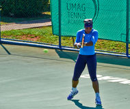 Serena Williams In Umag, Kroatien lizenzfreie stockbilder