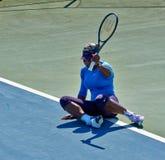 Serena Williams In Umag, Kroatien lizenzfreies stockbild
