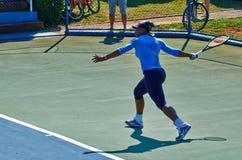 Serena Williams In Umag Kroatien Arkivbilder
