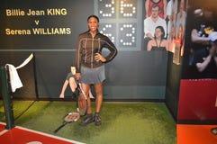 Serena Williams-Wachsstatue lizenzfreie stockfotografie