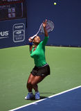 Serena Williams wins Bank of the West. Serena Williams serving at the Bank of the West finals Stock Photography