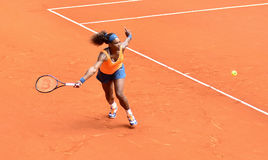 Serena Williams at the WTA Mutua Open Madrid royalty free stock photography