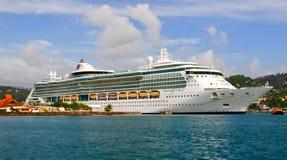 Serenade della nave da crociera dei mari nello St Lucia Fotografia Stock Libera da Diritti