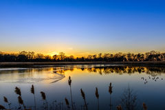 Serenata de la puesta del sol Imagenes de archivo