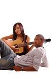 Serenata romántica de la guitarra Imágenes de archivo libres de regalías
