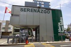 Serenazgo,区圣伊西德罗安全大厦  免版税库存照片
