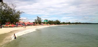 Serendipity Beach. One of the beaches in Sihaknoukville, Cambodia royalty free stock image