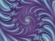 Serendipity. Swirling spiral fractal in lilac Royalty Free Stock Photos