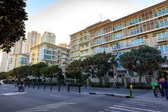 Serendra住宅门面在Bonifacio全球性市,达义市,菲律宾 免版税图库摄影