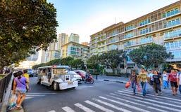 Serendra住宅门面在Bonifacio全球性市,达义市,菲律宾 免版税库存照片
