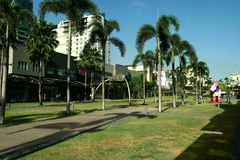 Serendra Park in Bonifacio Global City in the Philippines Royalty Free Stock Images
