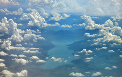 Serene aerial view. Stock Images