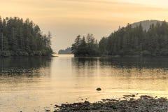 Serene Alaskan-inham stock fotografie
