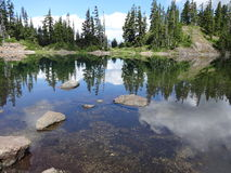 Serene alpine lake Stock Photos