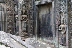 Serene apsaras of Ta Prohm Royalty Free Stock Photos