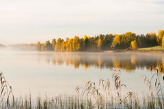 Serene autumn waterscape Stock Images