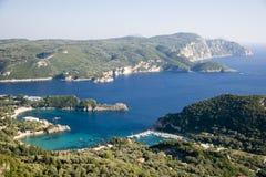 Serene Bay. Pictured in Corfu, Greece Stock Photo
