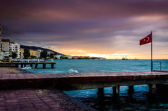 Serene Bay Sunset Environment Fotografie Stock Libere da Diritti