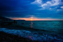 Serene Bay Sunset Environment Royalty Free Stock Image