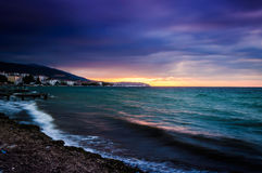 Serene Bay Sunset Environment Royalty Free Stock Image
