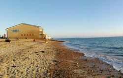 Serene beach royalty free stock photos