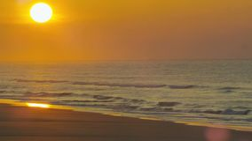 Serene beach at sunset stock video