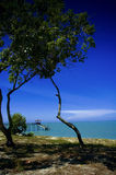 Serene Beachscape. A nice and serene beach landscape at Kerachut Island, Penang Royalty Free Stock Photos
