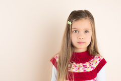Serene Beautiful Little Girl Posing Royalty Free Stock Image