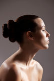 Serene beauty. Beautiful woman with elegant and stylish hair Royalty Free Stock Photography