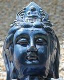 Serene Blue Buddha stock image
