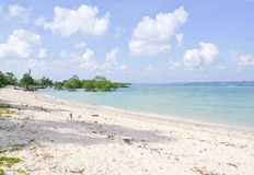 Serene blue landscape with white sand Royalty Free Stock Image