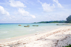 Serene blue sea at the beaches of Bharatpur, Neil Island. Royalty Free Stock Images