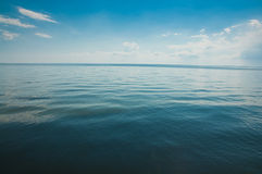 Serene blue sea Stock Photography
