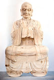 Serene Buddha di legno Immagini Stock