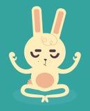 Serene Bunny Meditating royalty illustrazione gratis