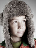 serene child with rabbit hat Stock Photography