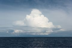 Serene cloudy seascape stock photo
