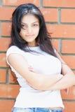 Serene confident woman Stock Photos