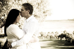Serene couple. Happy young couple in a serene setting Stock Images