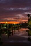 Serene Dock Royaltyfri Foto