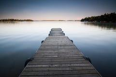Serene Dock Immagini Stock