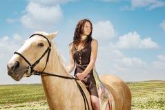 Serene equestrienne Stock Image