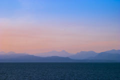 Serene evening seascape Royalty Free Stock Photos