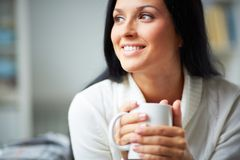 Serene female Stock Photos