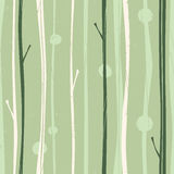Serene Forest Pattern. Seamless pattern of a forest Royalty Free Stock Image