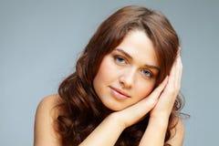 Serene girl Stock Image