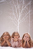 Serene girls Stock Image